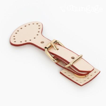 バッグあわせの装飾ゴールドのバックル斜視コミマグネットボタンナチュラルレッド