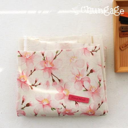 大幅 - 最高級DTP11できリネン)ロマンチック桜