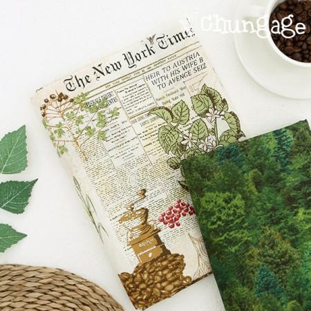 20数平織り)コーヒーの木の森(2種)