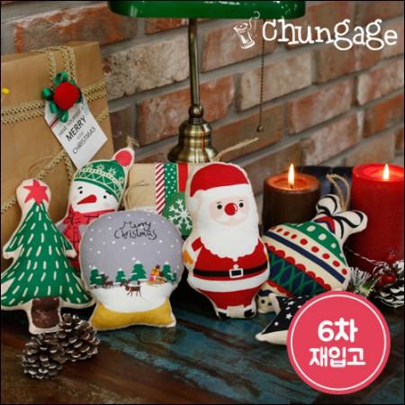綿20数平織りコットンカット地の生地クリスマス友人177