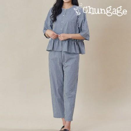 服のパターンの女性のパジャマパジャマ衣装パターン[P1235]