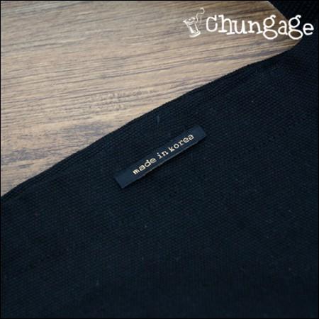 面ラベルポイントラベルメイドインコリアブラック金糸(5個入り)[KL014]