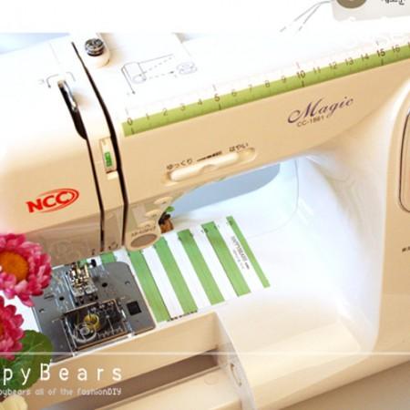 ミシン取付用縫い代ガイドルーラーミシンに貼る縫い代ガイド