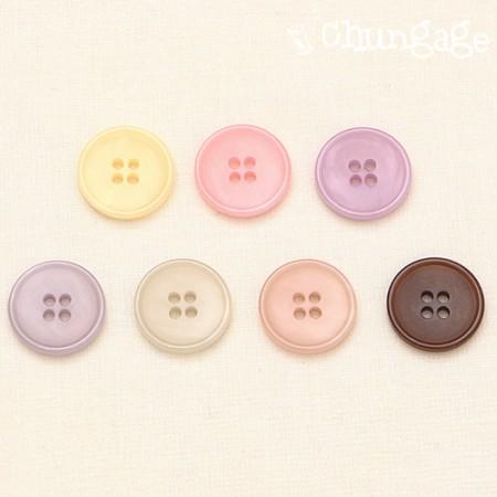 ボタンシエルパステルミックスボタン18mm