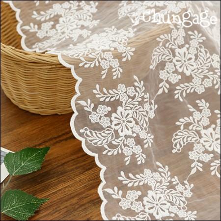 シャー生地レース刺繍の生地メッシュのレースの花のブーケ(2種)