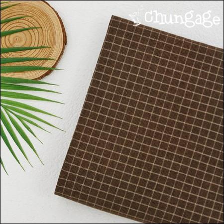 大幅 - 面起毛)チョコレートチェック[A-569]