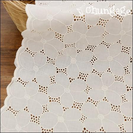 大幅レース綿生地刺繍の生地レースシルバーベル(2種)