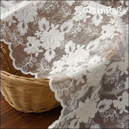 シャー生地レース刺繍の生地メッシュレースポグルバラ(2種)