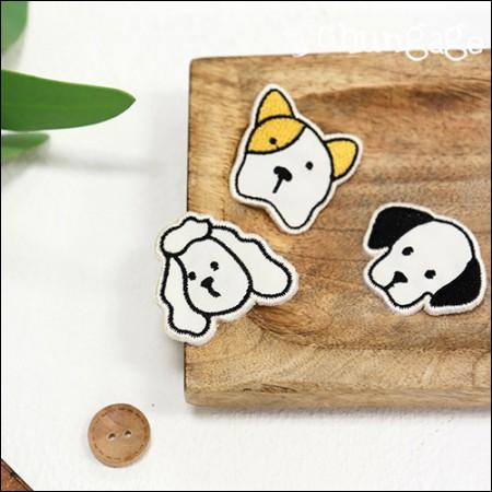 接着ワペンあざムンイ刺繍パッチワッペン(3種)[087]