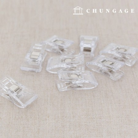 縫い代固定用透明トングセット8個入り