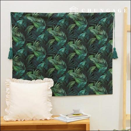 最高級DTP 20数平織り緑の葉