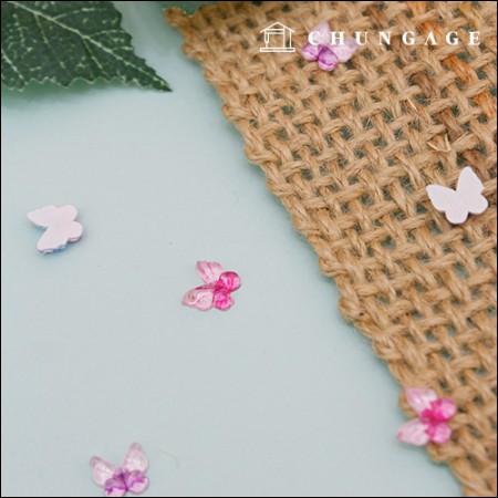 プラスチック飾りボタンロマンチックミニ蝶グルルゴンに付着するボタン2個入り3種