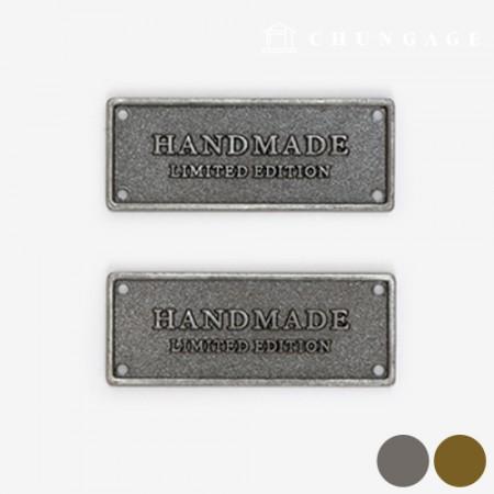 金属のラベルビンテージハンドメイド2種