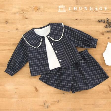 服のパターン子供上下セットの衣装パターン[P1194]