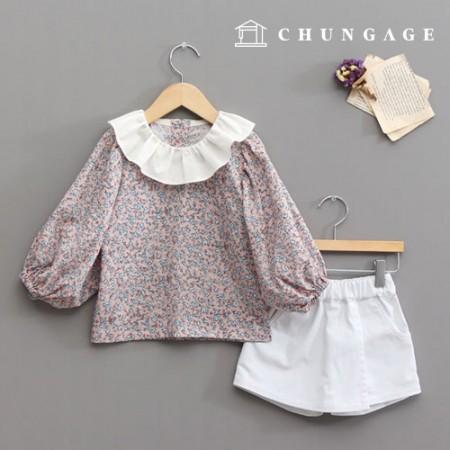 服のパターン子供ブラウスの衣装パターン[P1228]