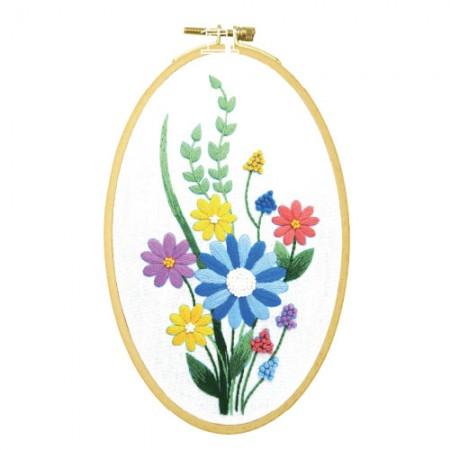 フランスの刺繍パッケージお花DIYキット生気いっぱいCH-511173