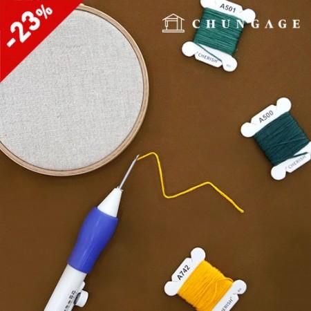 細い糸パンチニードルセット刺繍