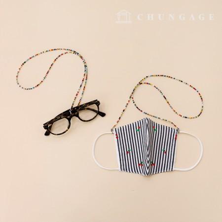 国内生産ビーズマスクネックレスマスクストラップ紐紛失防止線メガネ線完成品2種