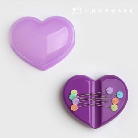磁石ピンクッションハートカバー型カラーランダム