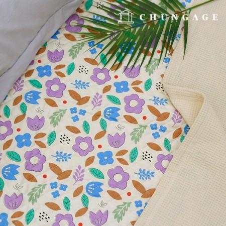 綿20数平織りコットンキルティング生地マーガレット