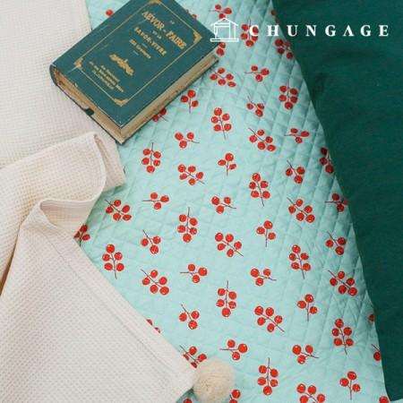 綿20数平織りコットンキルティング生地ミニョン