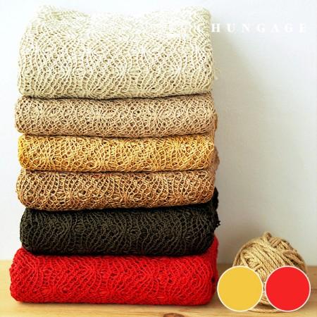大幅カラー編みニット2種