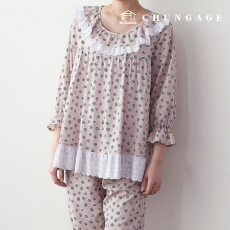 服のパターンの女性のパジャマセット衣装パターン[P1365]