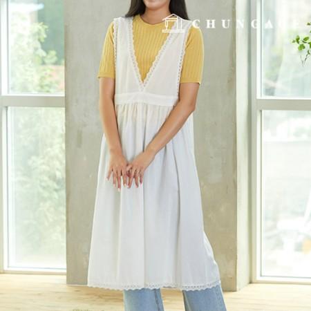 服のパターン女性重ね着ワンピース衣装パターン[P1402]