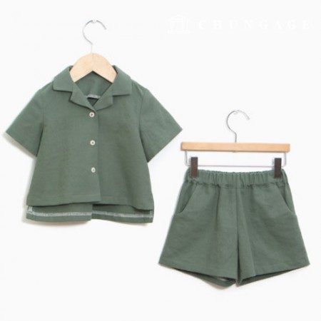 服のパターン子供上下セット衣装パターン[P1099]