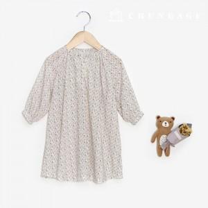 服のパターン子供ワンピースナチュラルスタイルの衣装のパターンP1421